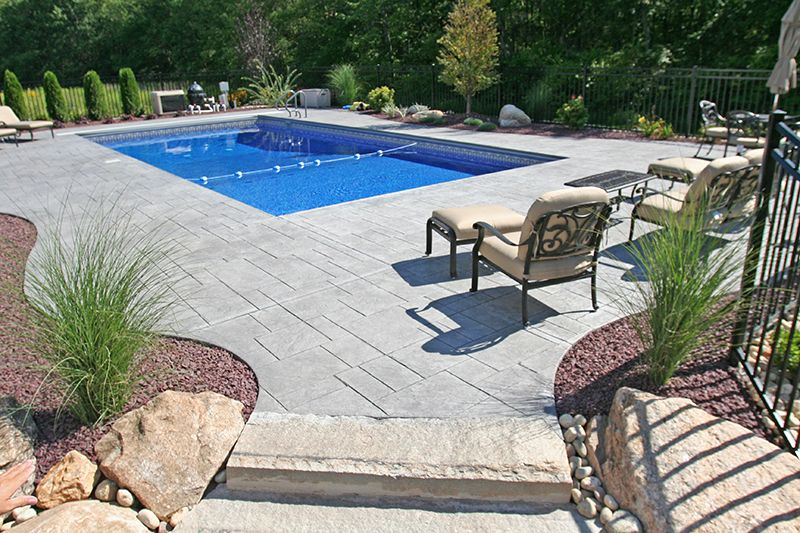 Stamped Concrete Patios Ct Swimming Pools Company Swimming Pool