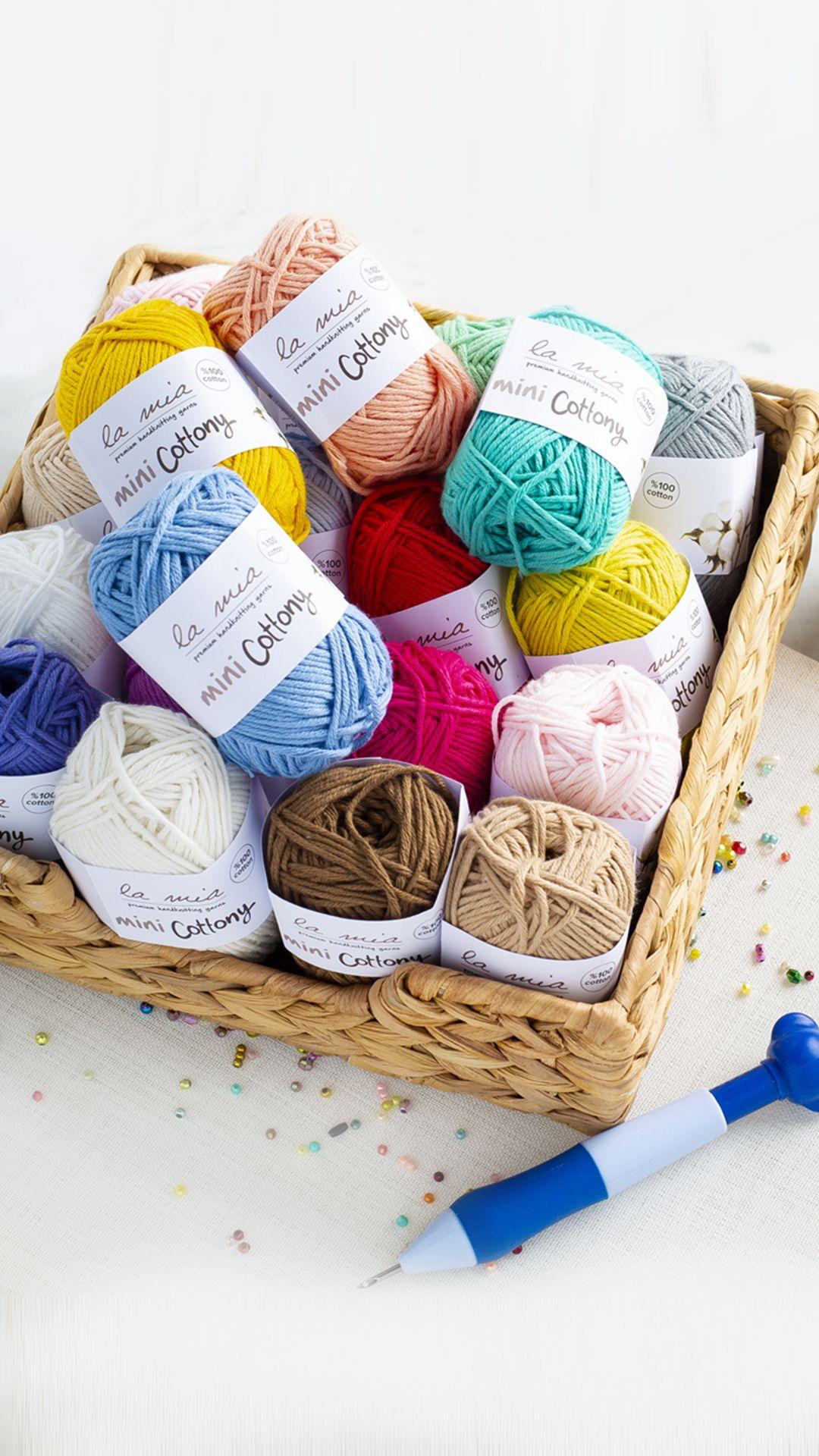 La Mia Mini Cottony Wallpaper Crochet Storage Wallpaper New Wallpaper