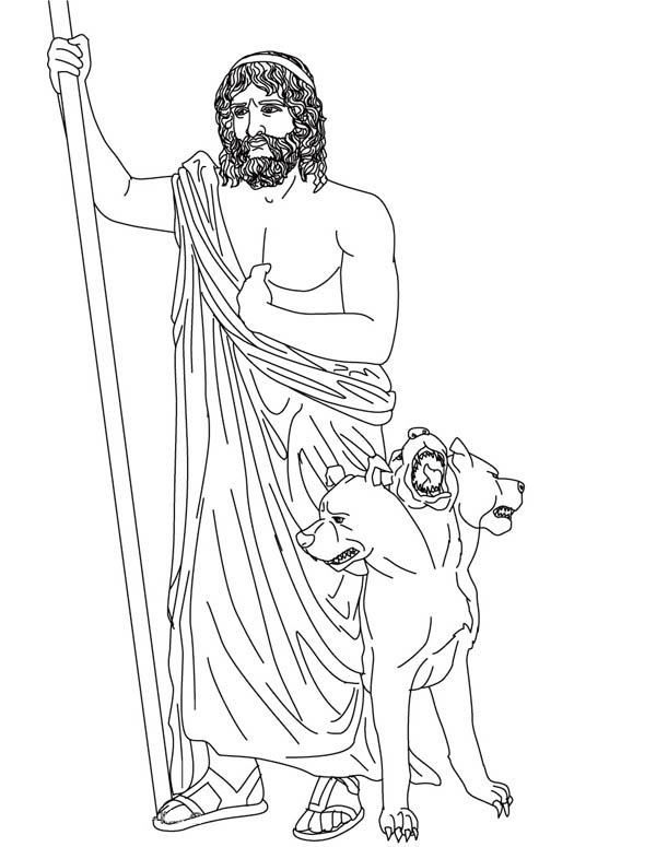 Picture Of Hades And Cerberus Coloring Page Netart Greek Gods And Goddesses Coloring Pages Gods And Goddesses