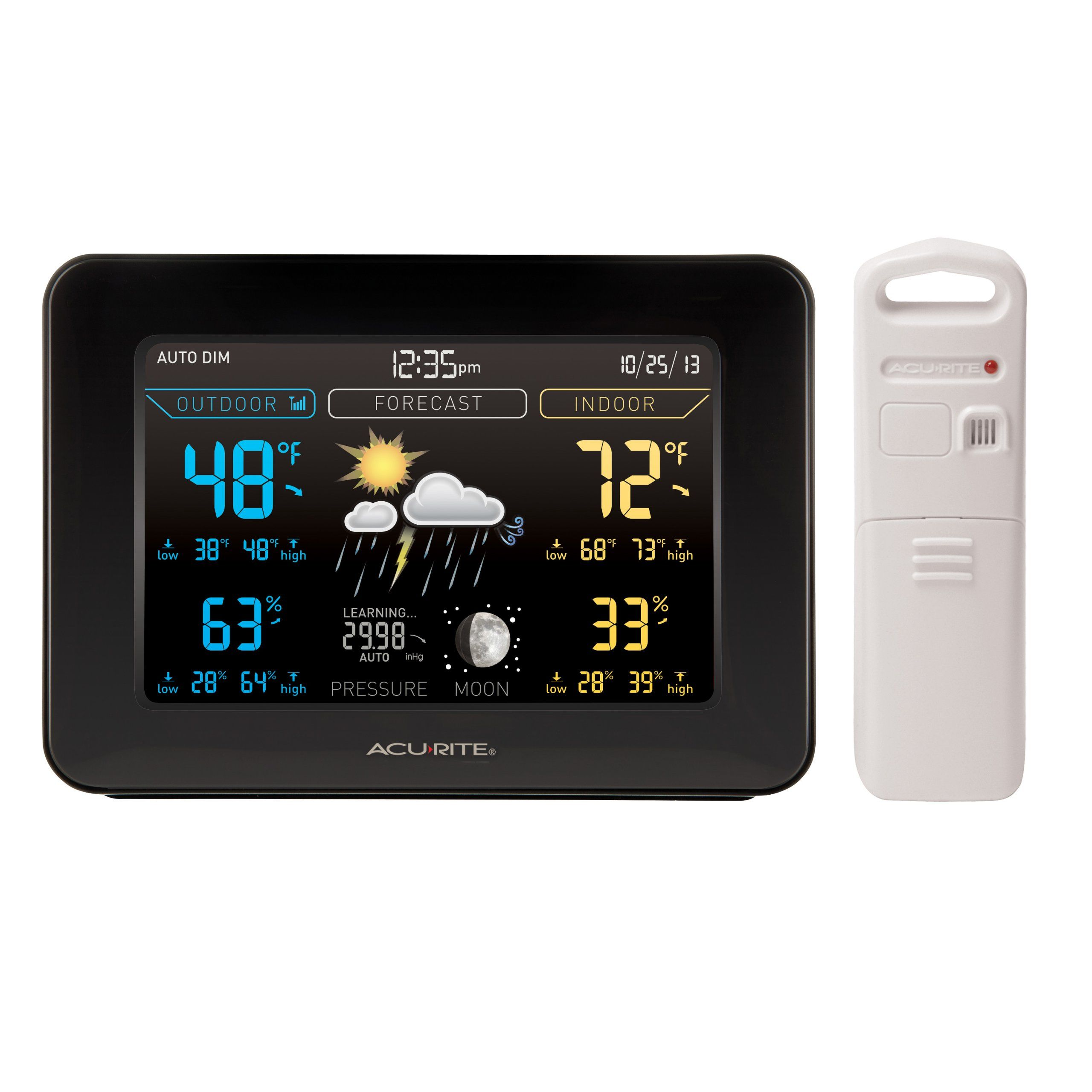 AcuRite 02027 Color Weather Station with Forecast/Temperature ...