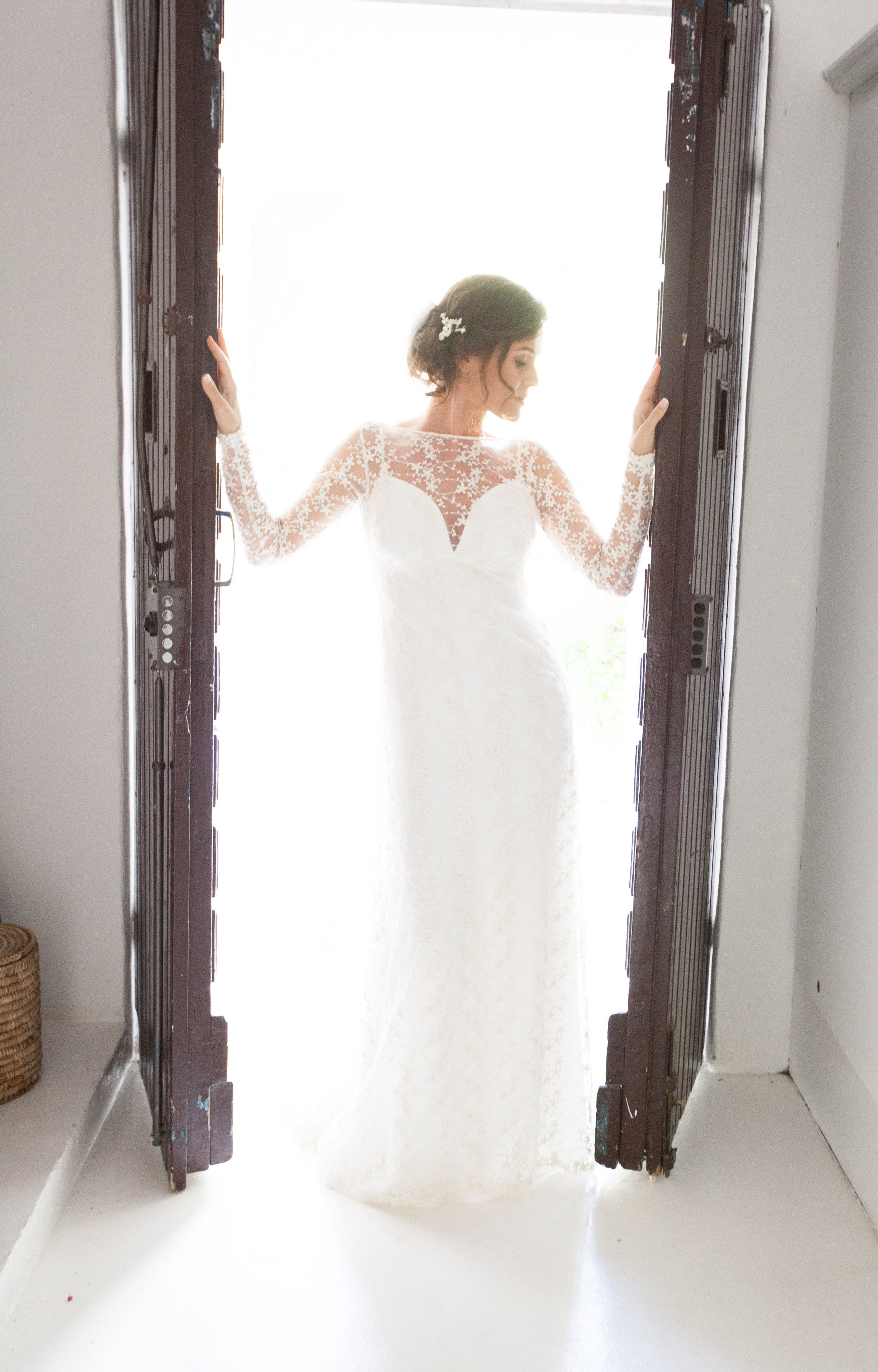 Claudia silk and lace boho chic wedding dress by house of moirai