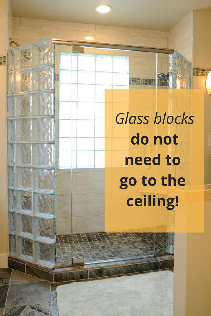5 Myths about Anchoring a Glass Block Shower Wall | Bathroom ...