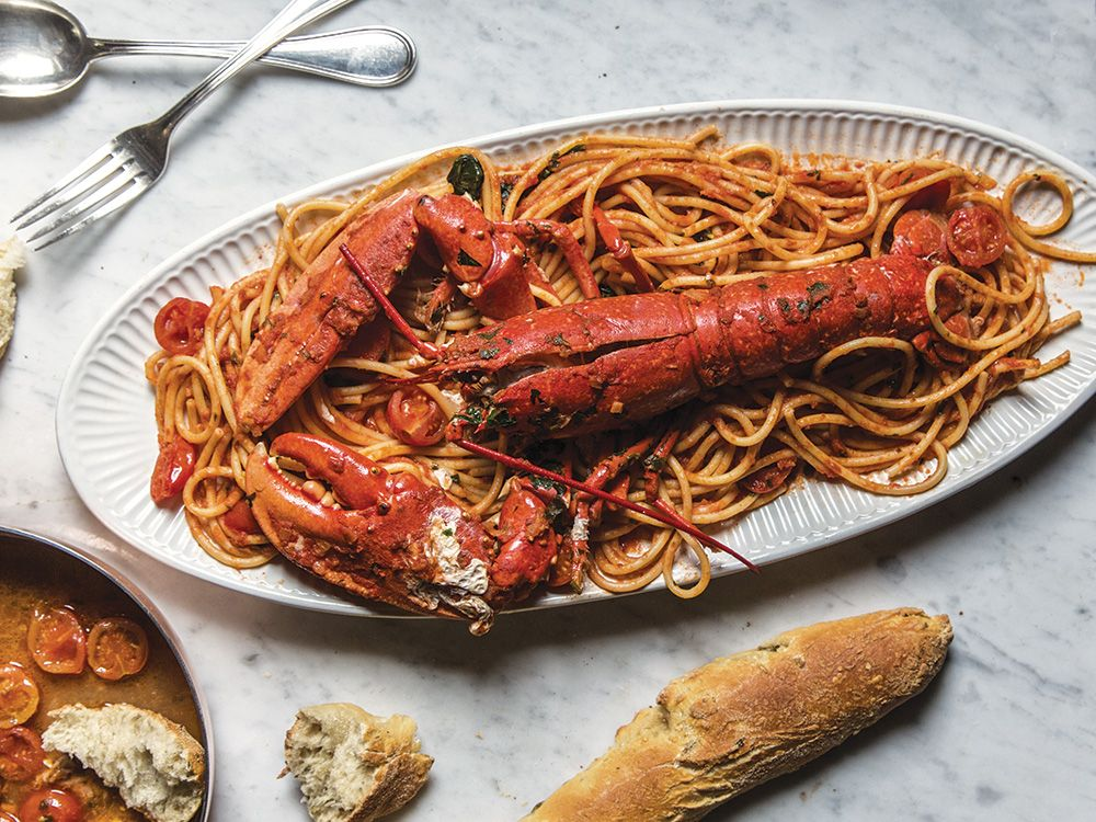 Cook this: Spaghetti with lobster from A Table in Venice ...