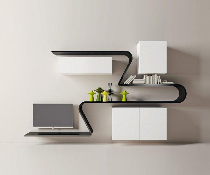 Wohnwand italian design  Novamobili Wave Wohnwand GD 301 | >> TV Wohnwände << | Pinterest ...