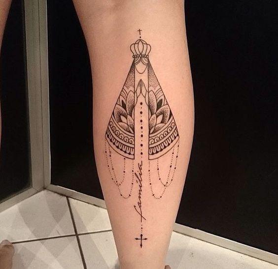 Nossa Senhora Aparecida Tatuagem Tatuagem Feminina E
