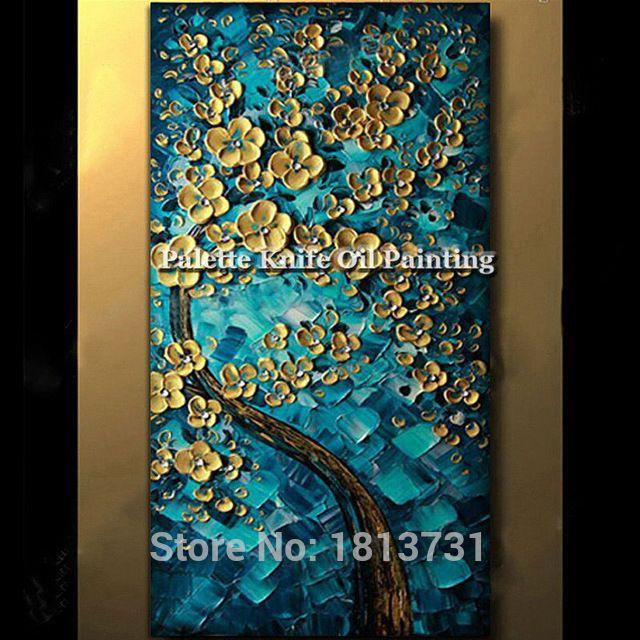 Toile Peinture Palette Couteau 3d Texture Acrylique Fleur