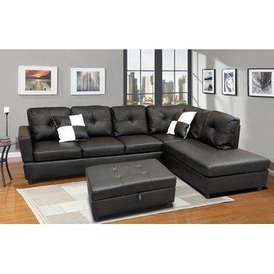 Winston Porter Roughton Modular Sectional with Ottoman in ...