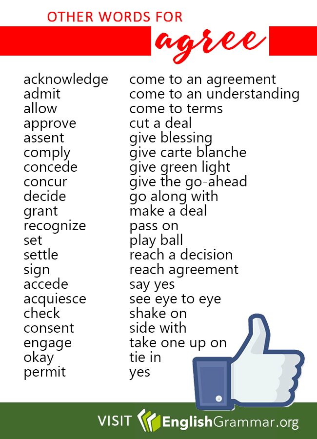 Other Words For Agree Word Choices Pinterest English Language