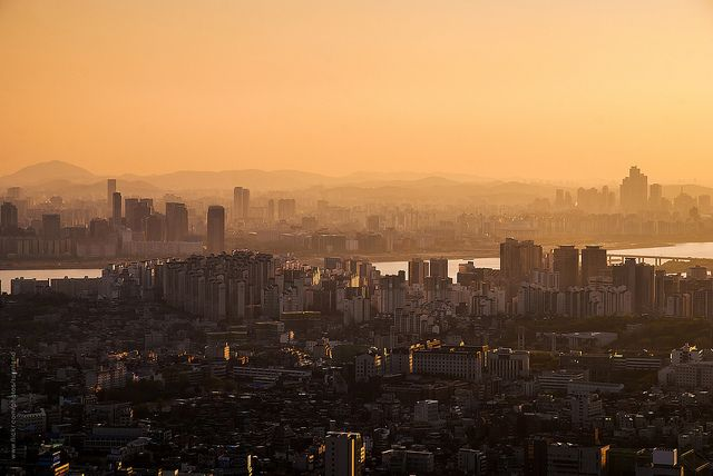 'Evening light over Seoul skyline' - Seoul
