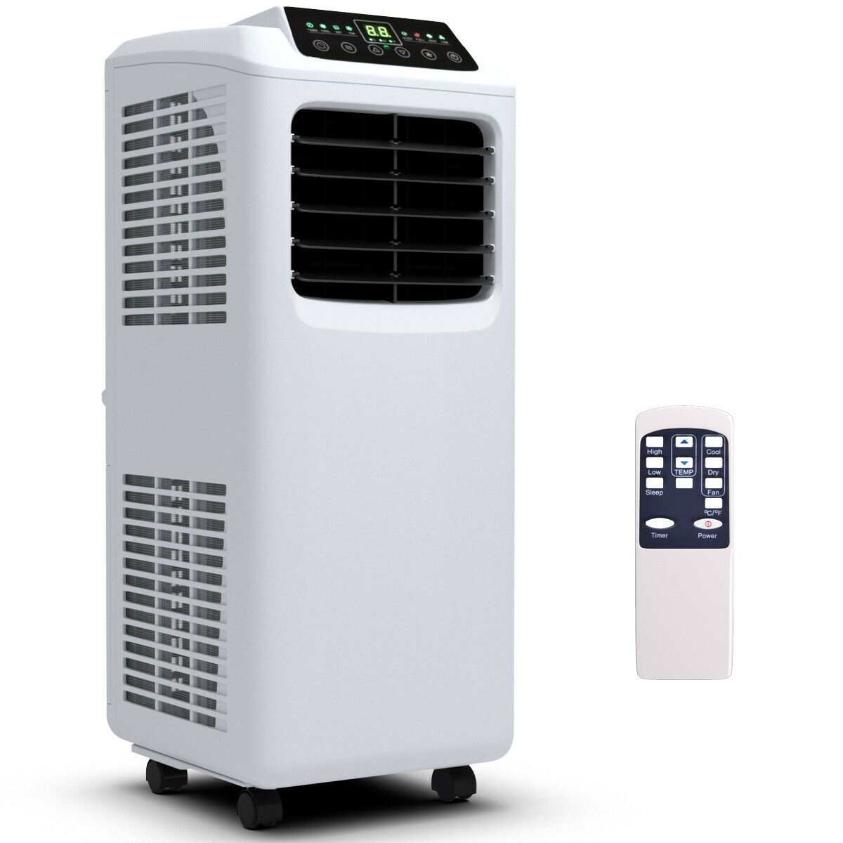 8000 Btu Portable Air Conditioner With Window Kit In 2020 Recessed Electric Fireplace Fireplace Heater Electric Fireplace Heater