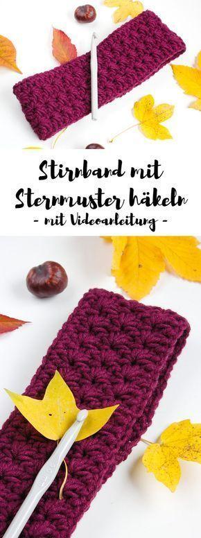 Photo of Stirnband mit Sternmuster häkeln – gratis Anleitung mit Video | ars textura – My Blog