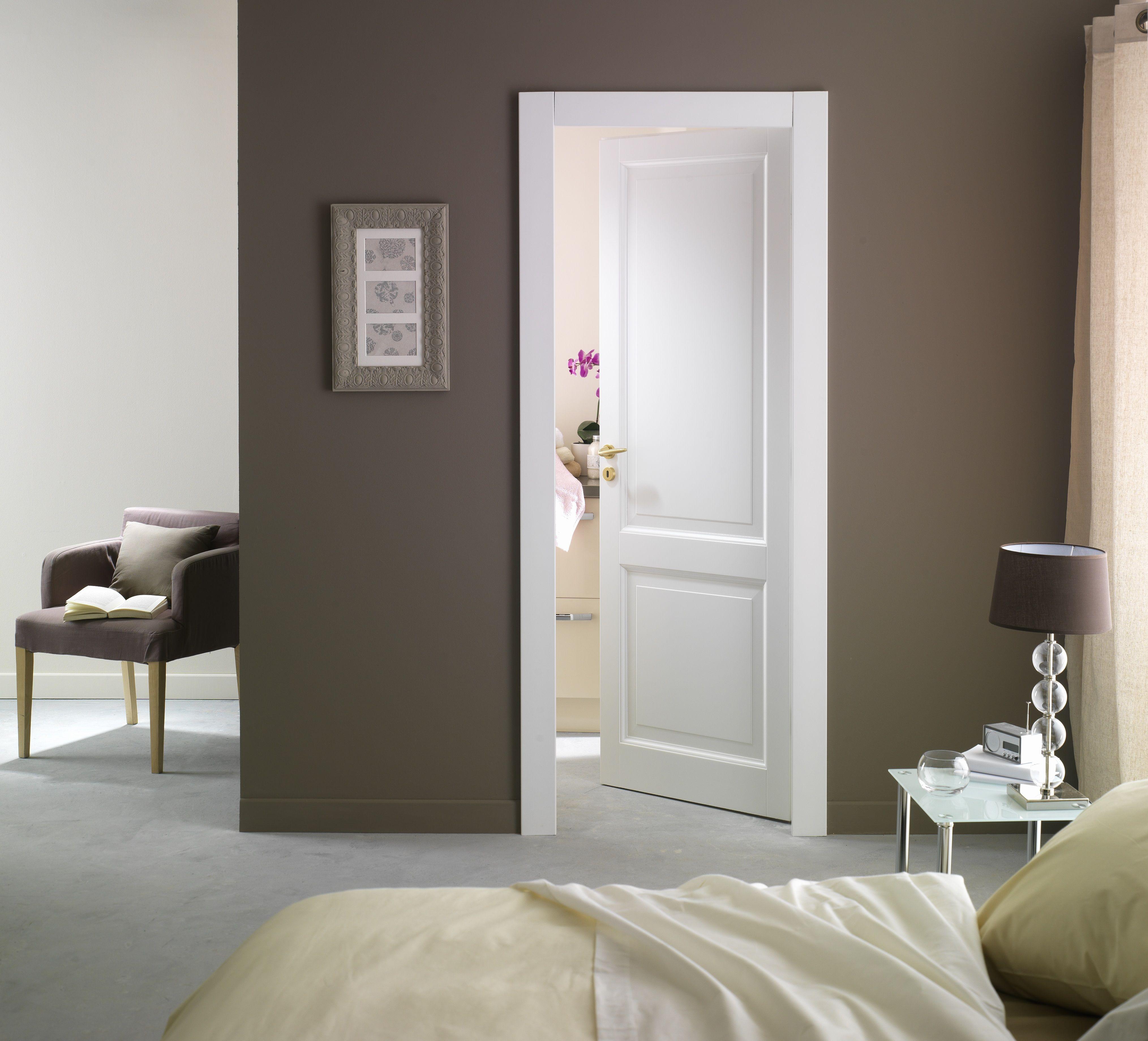 Couleur Porte Interieur Blanc Gris porte d'intérieur pleine plein blanche modèle karine   porte