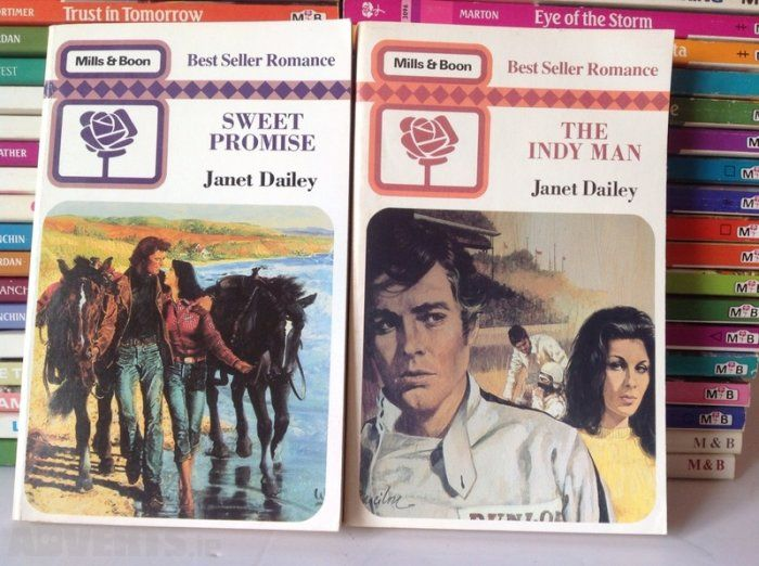 Lot Of 44 Vintage 1980s Mills And Boon Books For Sale in