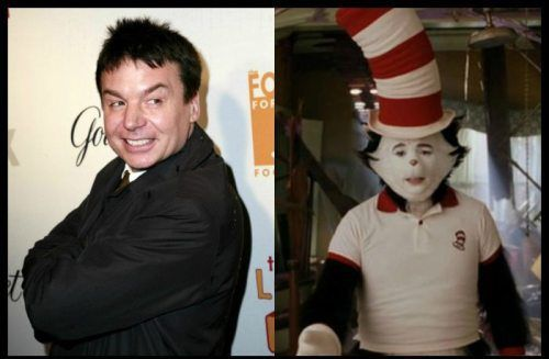 Behind The Makeup Mike Myers In Cat Hat. Actors That Played Some Unrecognizable Roles 60 Photos Stage