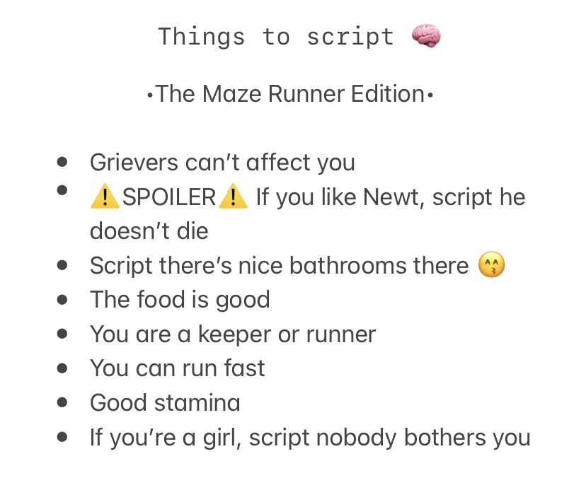 The Maze Runner Shifting Script Ideas In 2021 Teenager Quotes About Life Create Reality Scripting Ideas