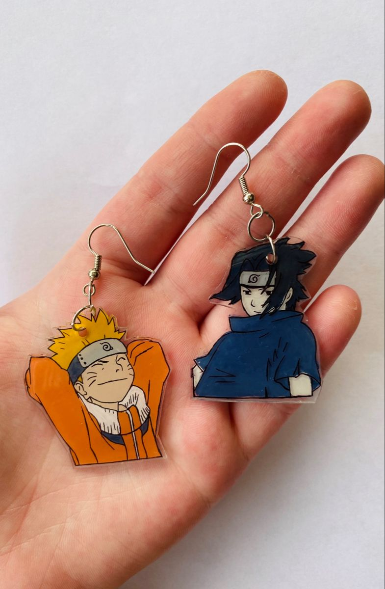 Naruto and Sasuke Earrings