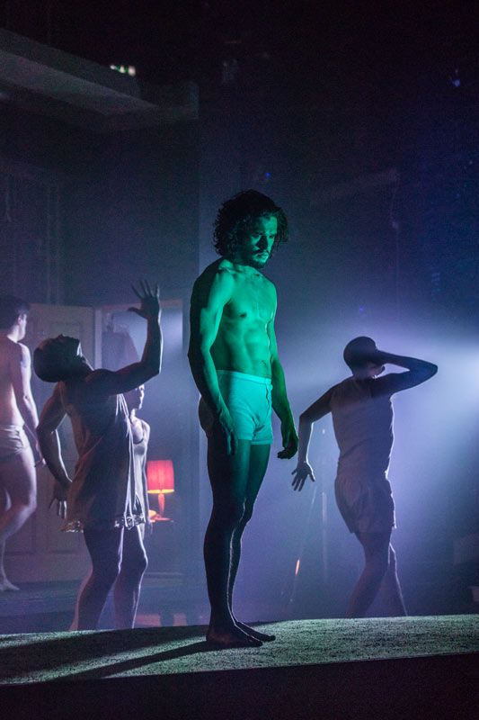 Kit Harington in Doctor Faustus at the Duke of York's Theatre, London, April 2016