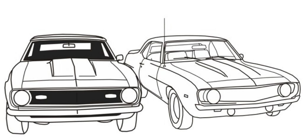 Free Coloring Pages For Adults Cars. Free Printable Muscle Car Coloring Picture For Boys