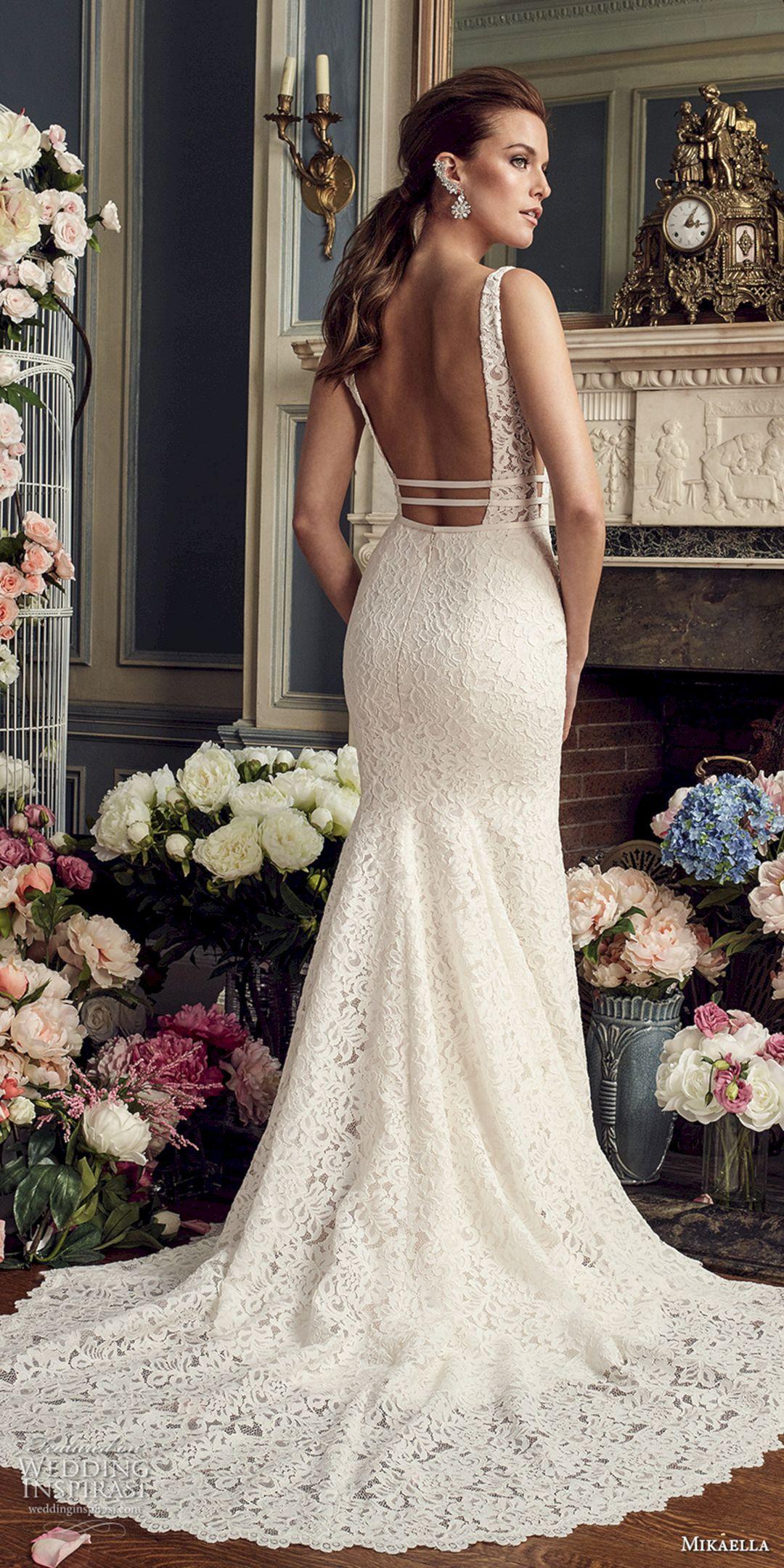 Nice 45+ Beautiful White Lace Wedding Dress Open Back Ideas  https://oosile.com/45-beautiful-white-lace-wedding-dress-open-back-ideas-9887