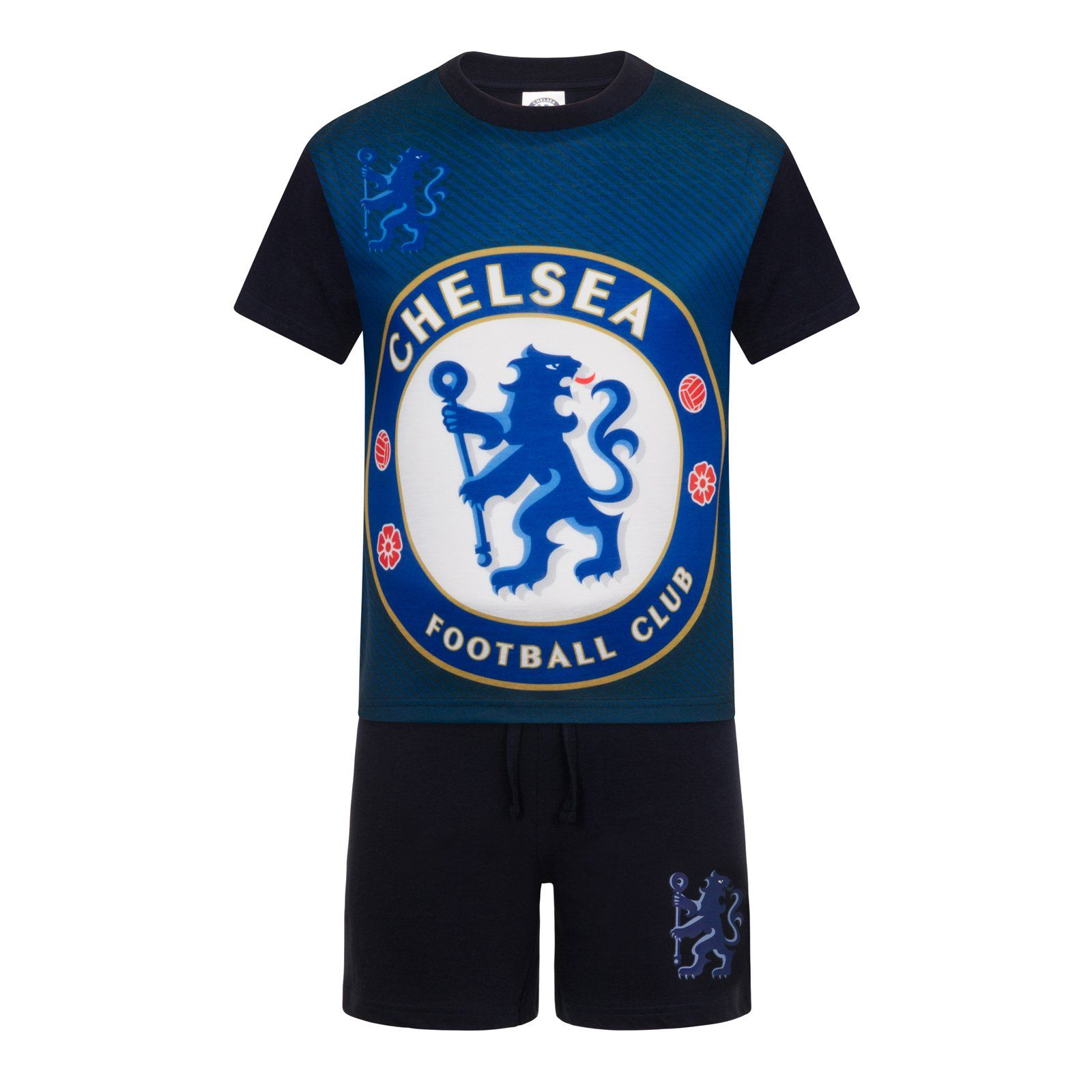 Boys Pyjamas Chelsea FC Pjs CFC Football Official Club Crest Kids 4 to 12 Years