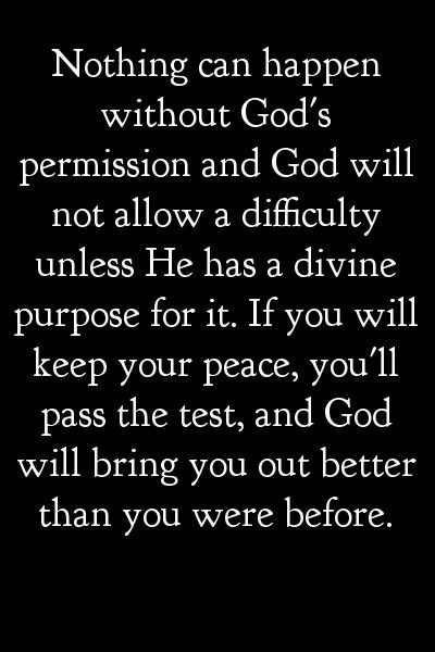 He will not allow a difficulty unless He has a DIVINE