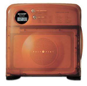 the sharp half pint microwave in orange