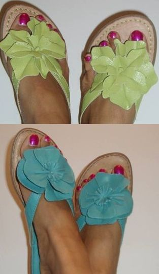 c451d5b49778 BORN  BOC flower sandals. I have these in green