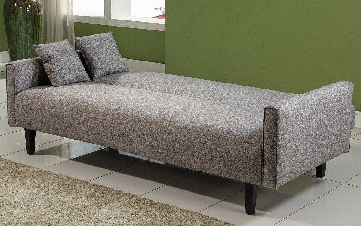 Grey Sofa Cream Rug Green Wall Grey Cushions