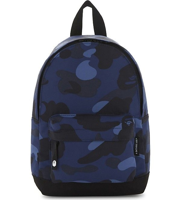 A BATHING APE - Camouflage canvas backpack  fcc1969be477e