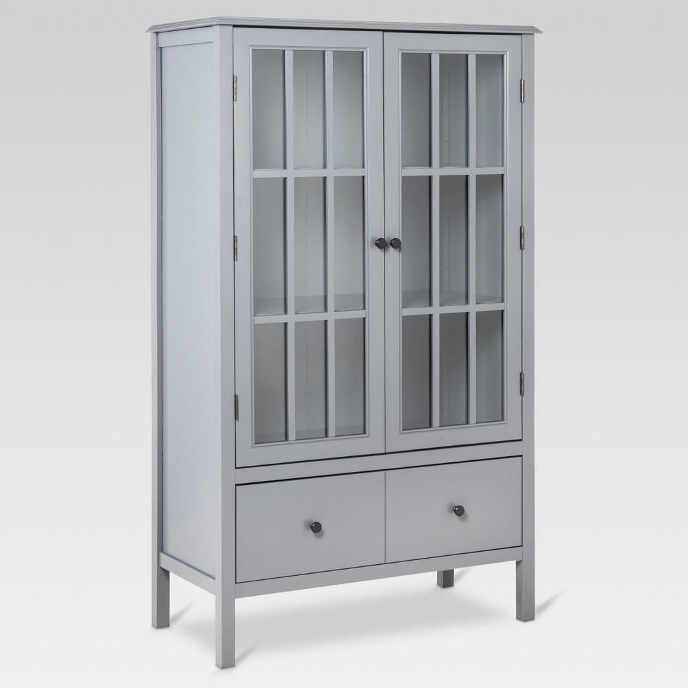 Windham Tall Storage Cabinet With Drawer Gray Threshold Tall