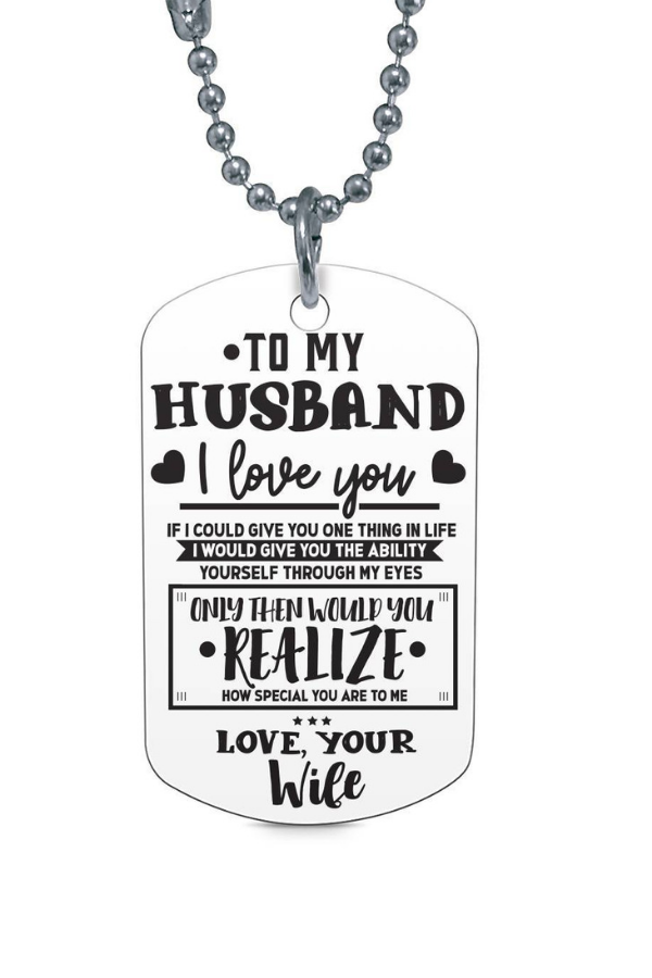 To My Husband I/'d Find And I/'d Choose You Necklace /& Keychain Matching Set Circular Silver Birthday Graduation Anniversary Military Gift