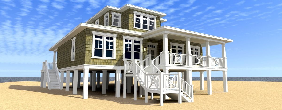 Plan 44117TD: Ultimate Oceanfront House Plan | Pantry, Lofts and House