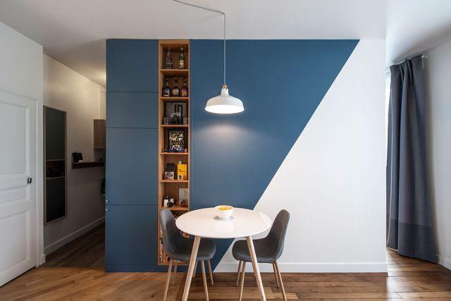 Séjour peinture  des idées pour peindre un mur du salon ou de la - Peindre Des Portes En Bois