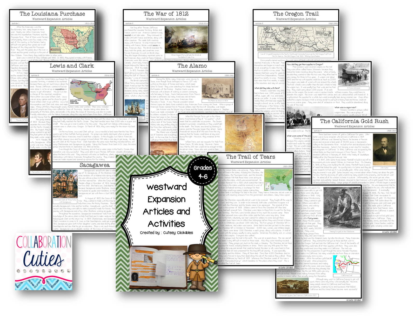 Westward Expansion Lessons And Activities Complete Unit