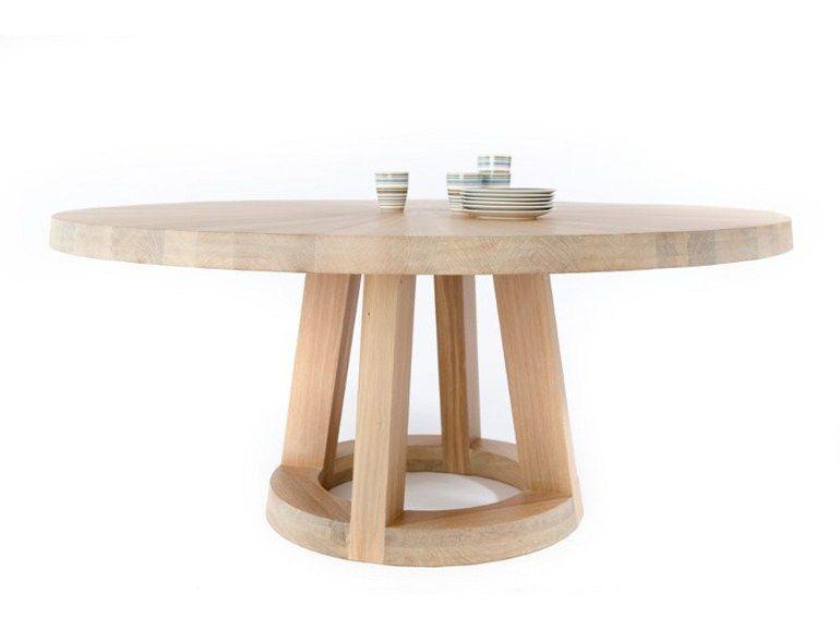 mesa de comedor redonda de madera maciza solid mesa redonda odesi