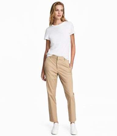 c8180f0b1 Chinos | Beige | Women | H&M US | style in 2019 | Slacks outfit ...