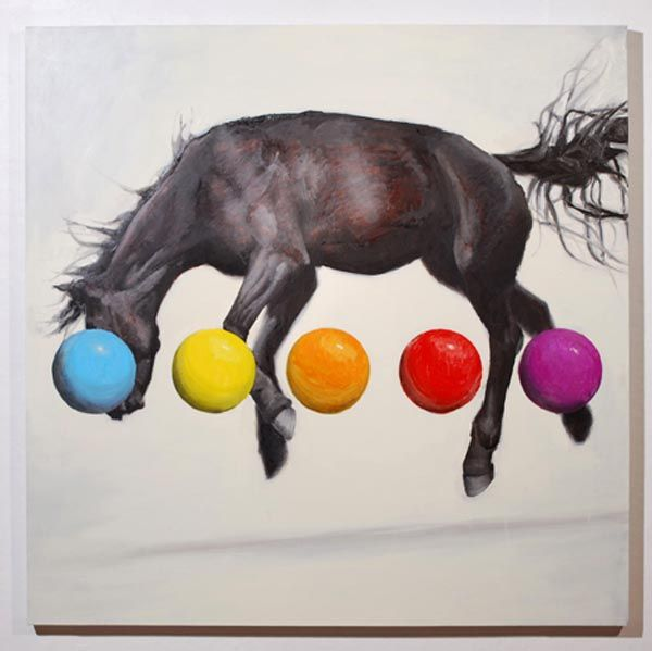 Equine Variation No. 3 - Oil on Canvas by Russ Noto