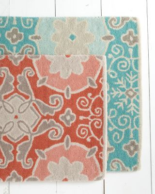 Fl Mosaic Tufted Wool Rug Thinking