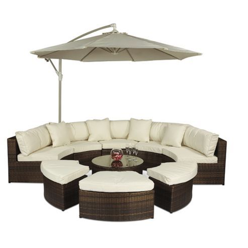 Lazy Boy Sofa Monaco Large Rattan Semi Circle Sofa Set