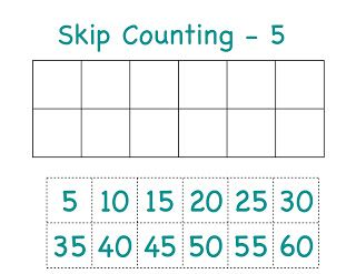 skip count 5 cut and paste | cc cycle 2 | Pinterest
