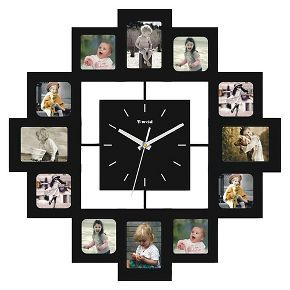 Creative Motions Clock With 12 Frames Wall Clock Photo Frame Photo Frame Wall Picture Frame Wall