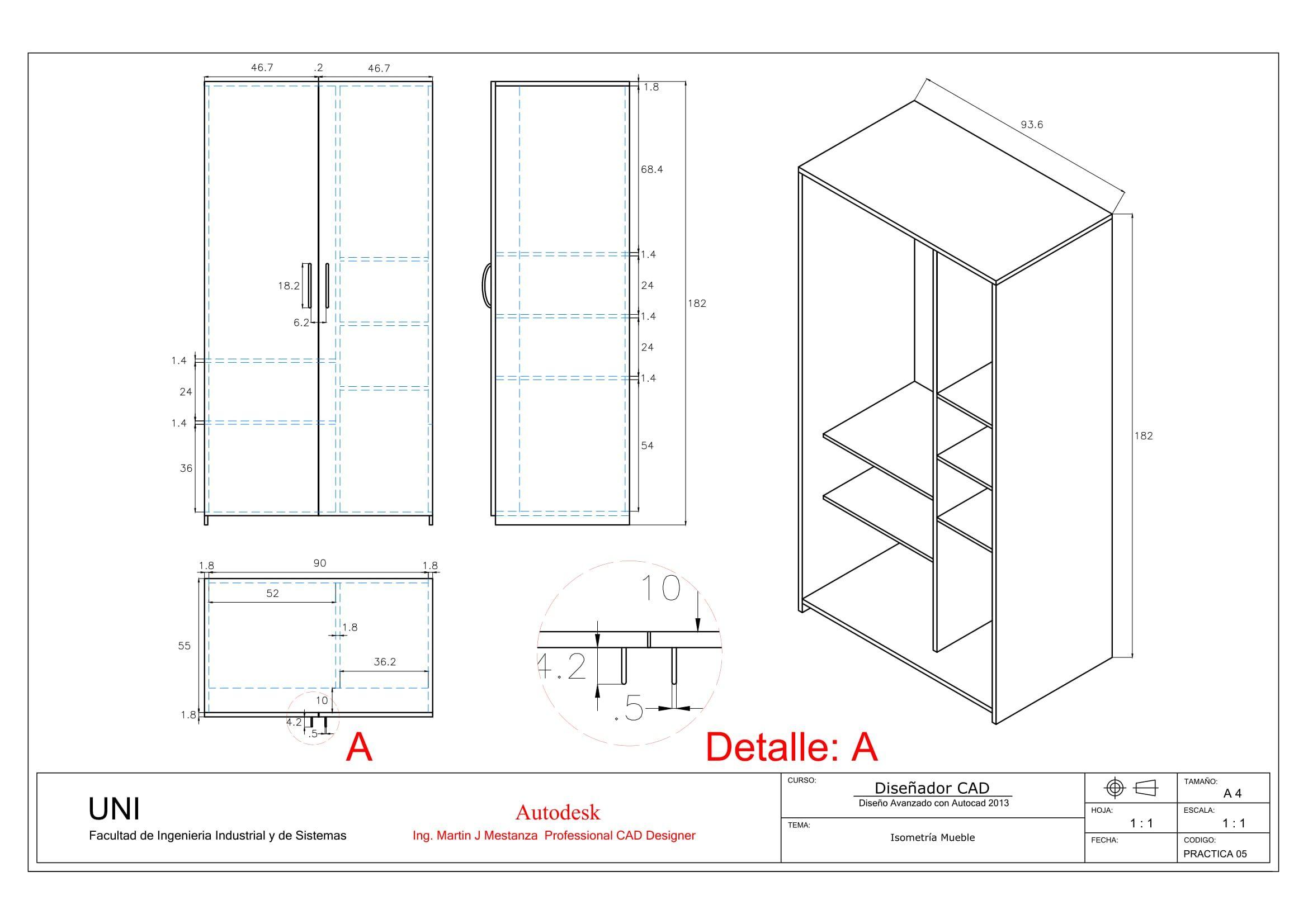 Practica Calificada N 05 Geometric Drawing Autocad Sketch Design