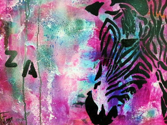 Zebra vans paintings and canvases zebra van femke van der tak fem paintings op canvas behang en meer altavistaventures Images