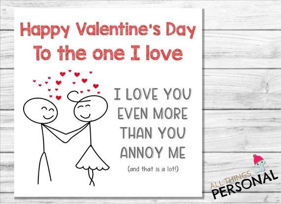 Valentines Day Card For Husband Wife Boyfriend Girlfriend