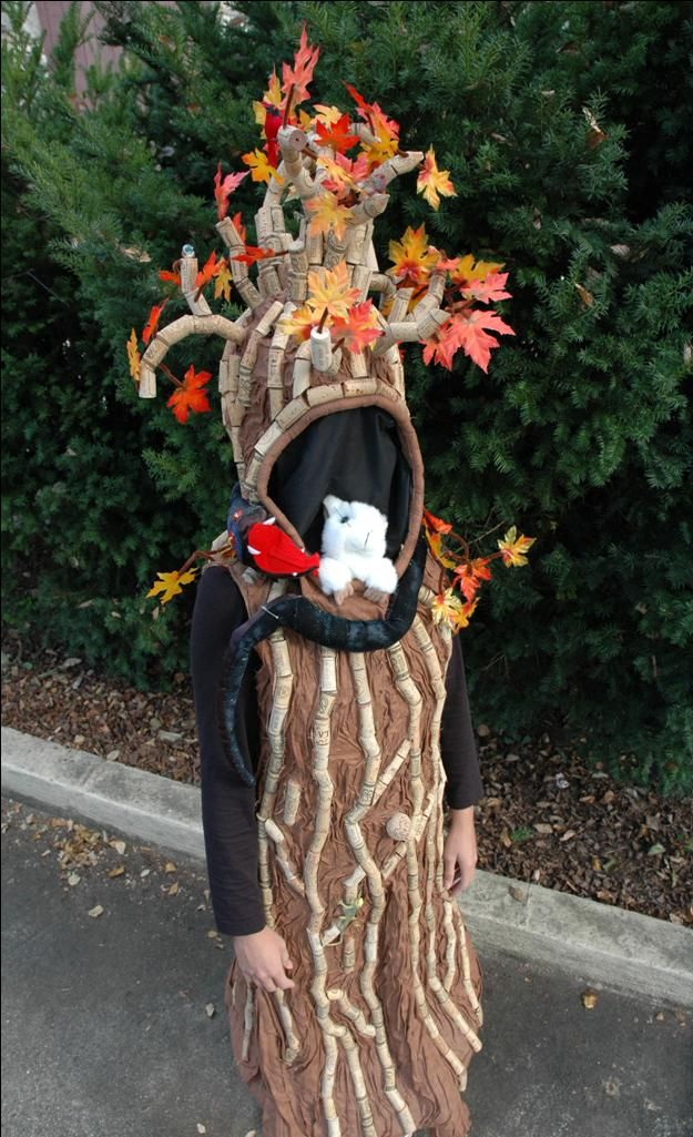 Cork Tree Costume Costume Pop Tree costume, Homemade