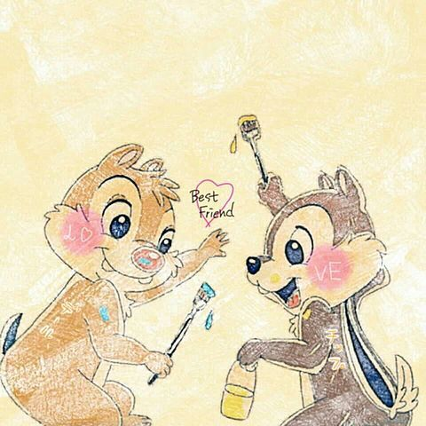 チップトデールの画像 プリ画像 Chip And Dale Disney Art Disney Illustration