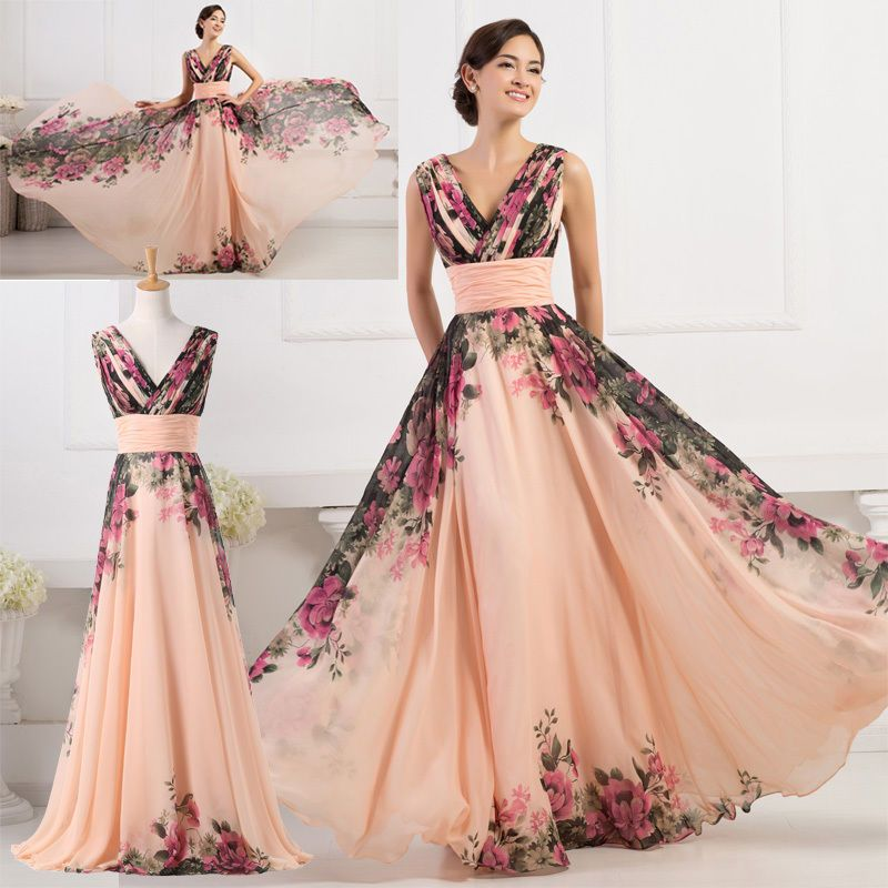 Sexy Women Summer Long Floral Dresses Evening Party Prom Long Gown PROM  Sundress  GraceKarin  BallGown  Cocktail 1bdd24c9e16a