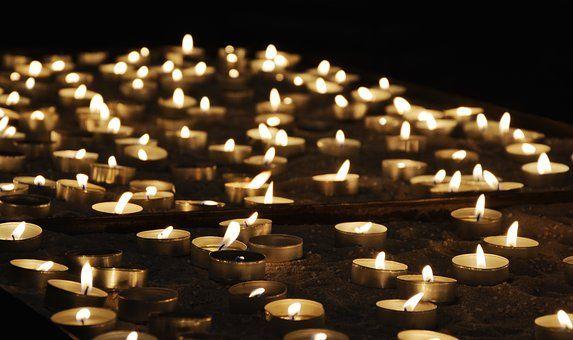 Tea Lights, Church, Light, Prayer