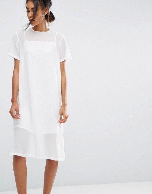 Vestido blanco fiesta asos