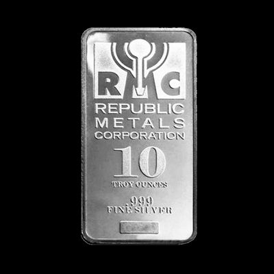 Republic Metals Corporation 10 Troy Oz Silver Bar
